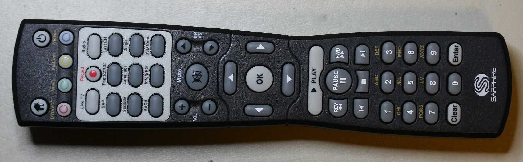 Linux / MythTV driver for Sapphire TheatriX remote control